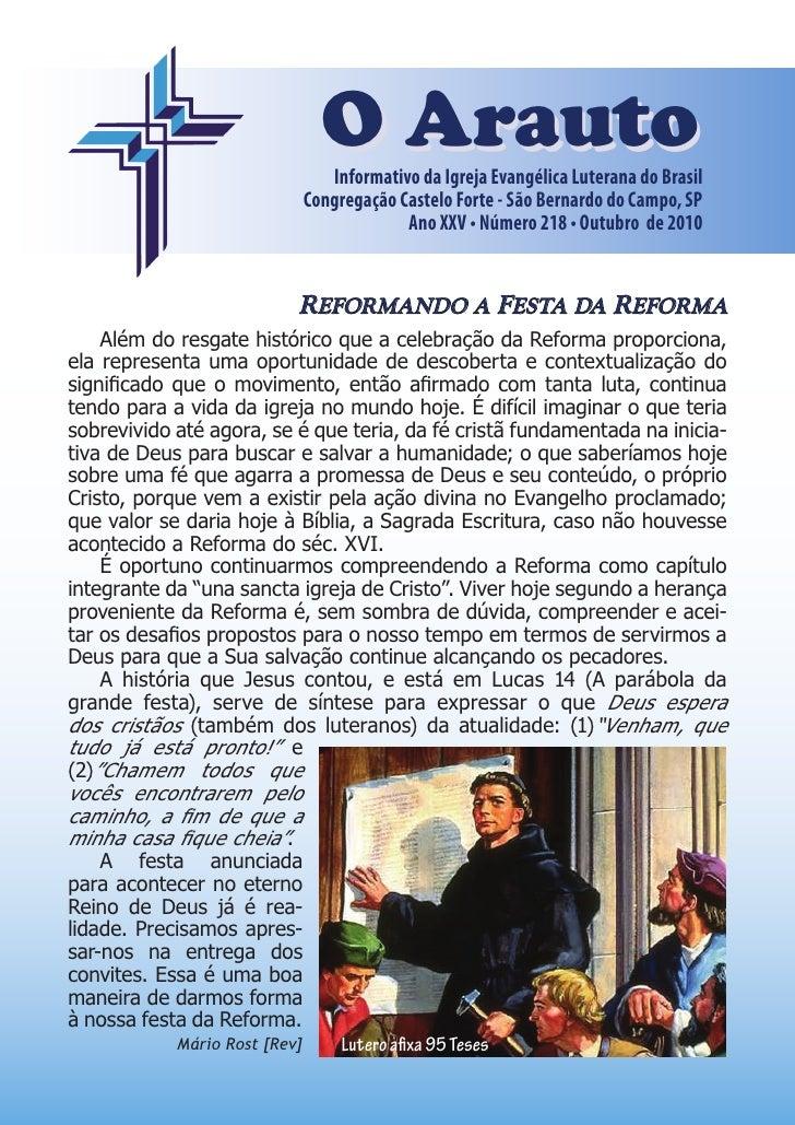 O Arauto                                   Informativo da Igreja Evangélica Luterana do Brasil                            ...