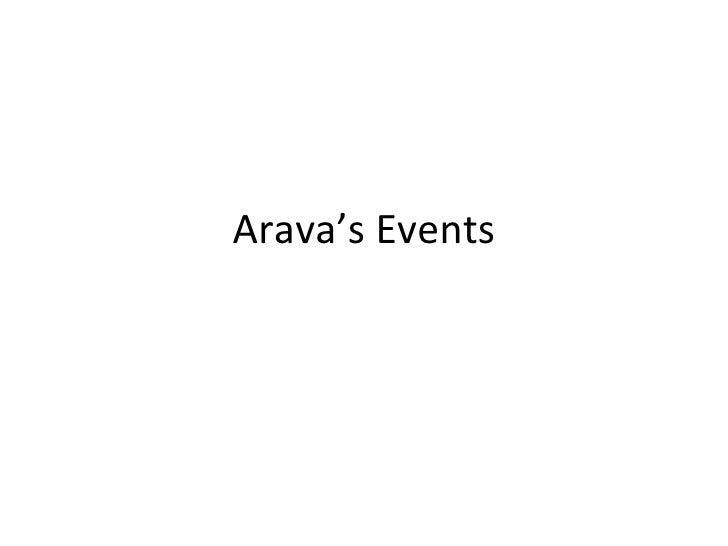 Arava's Events
