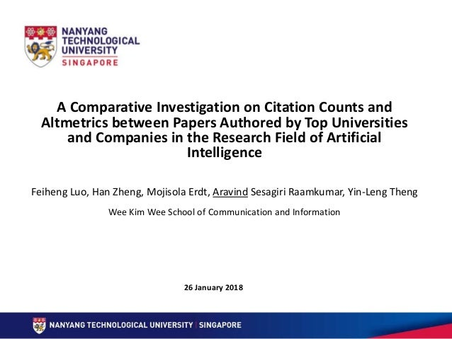 A Comparative Investigation on Citation Counts and Altmetrics between Papers Authored by Top Universities and Companies in...