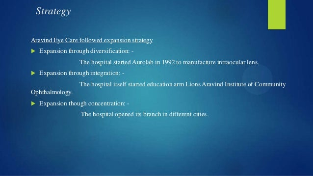aravind eye care analysis Aravind eye care case  v to facilitate attainment his vision in the next 3 yearssituational analysis the aravind eye hospital is a privately.