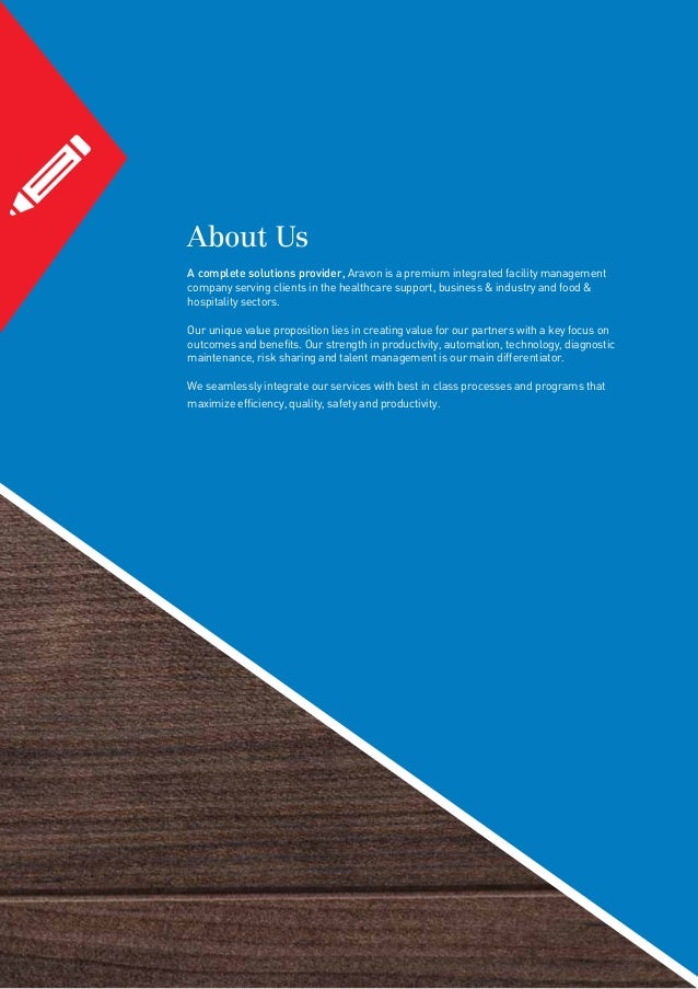 Aravon, Facility Management Services, Brochure