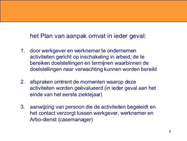 plan van aanpak zieke werknemer Arbeidsrecht zieke werknemer (jan willem menkveld) plan van aanpak zieke werknemer