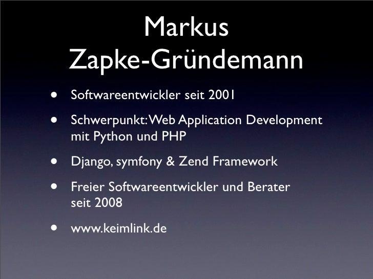 Arbeiten mit distribute, pip und virtualenv Slide 2