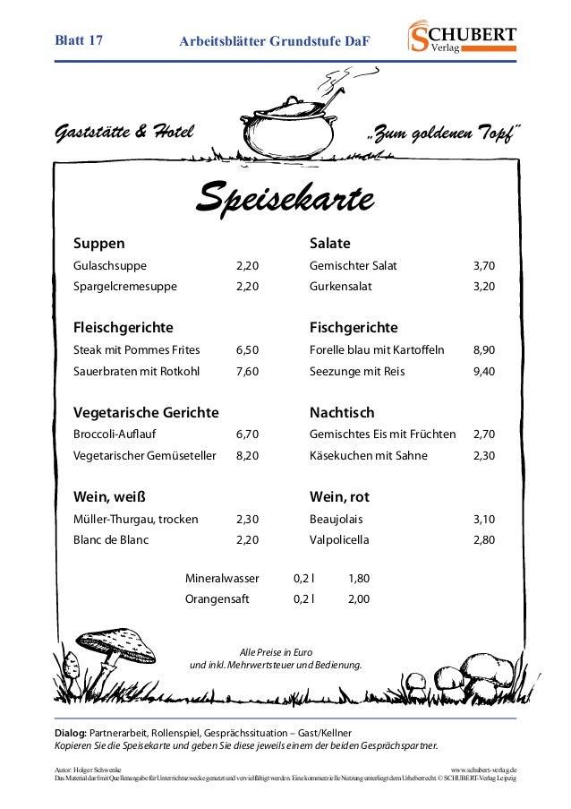 Wunderbar Speiseplan Arbeitsblatt Galerie - Arbeitsblätter für ...