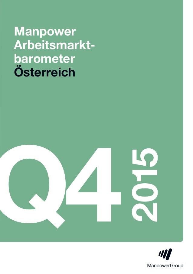Manpower Arbeitsmarkt- barometer Österreich Q4 2015