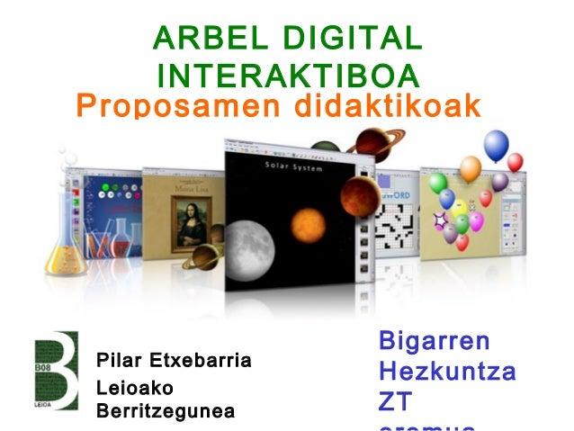 ARBEL DIGITAL    INTERAKTIBOAProposamen didaktikoak                    Bigarren Pilar Etxebarria                    Hezkun...