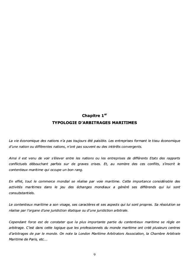 Arbitrage maritime for Chambre arbitrale