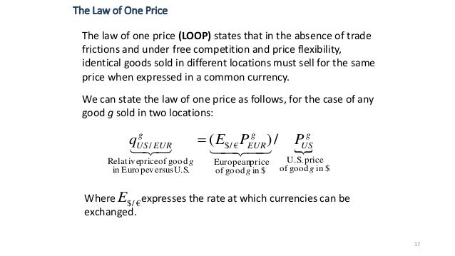 law of one price and purchasing power parity
