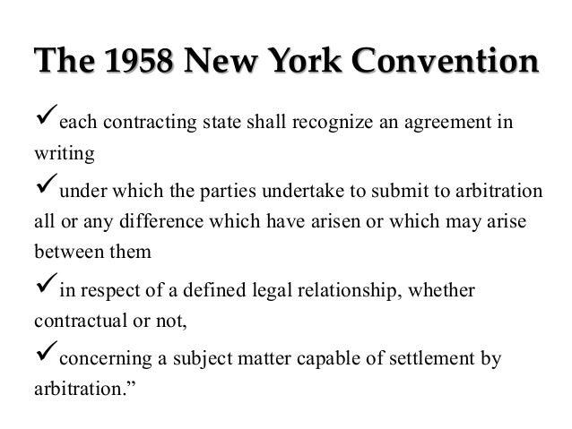 New York International Arbitration Center - State of the ...