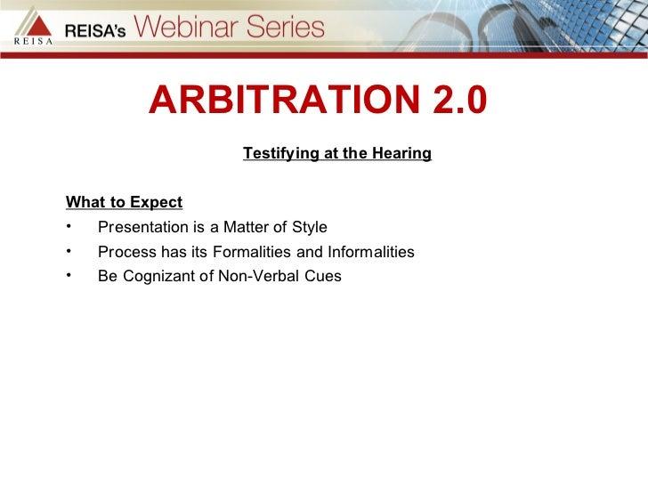 Arbitration 2 0