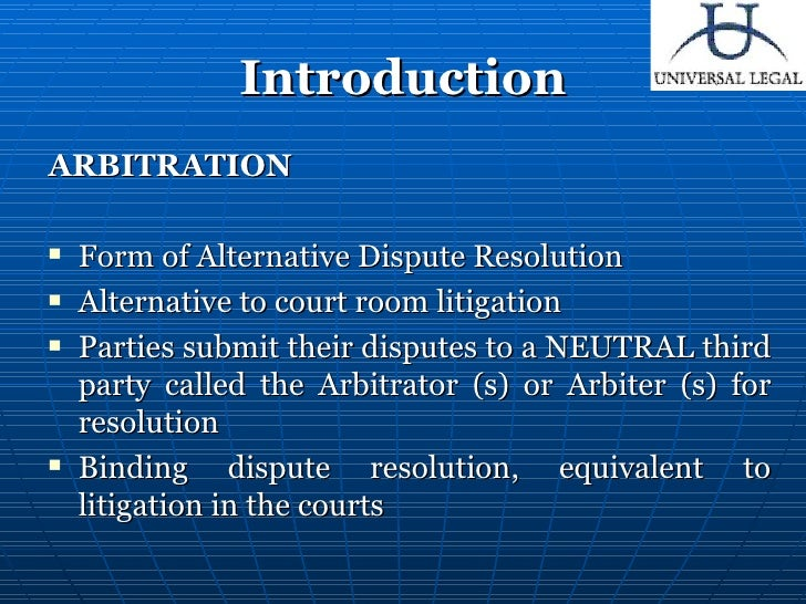 arbitration and conciliation