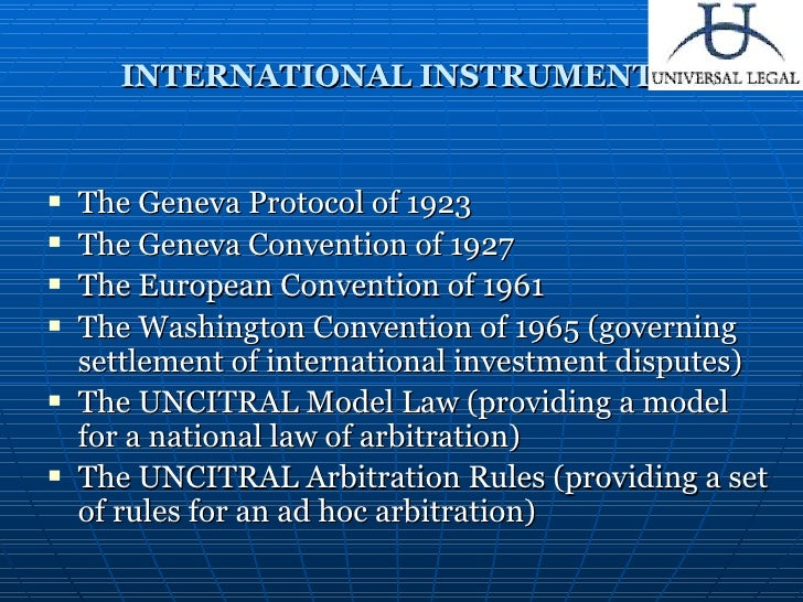 adr geneva convention The arbitration (protocol and convention ) act, 1937 which came into force on 4th march, 1937 provided for the the geneva convention ceased to apply to those awards to which the new york.