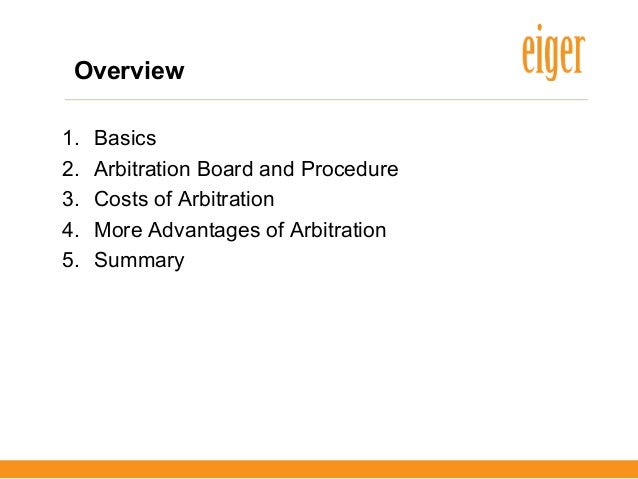 Arbitration in germany advantages and disadvantages from
