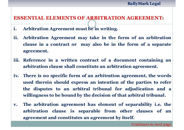 Arbitration In India An Outlook By Rupendra Porwal Rallymark Legal