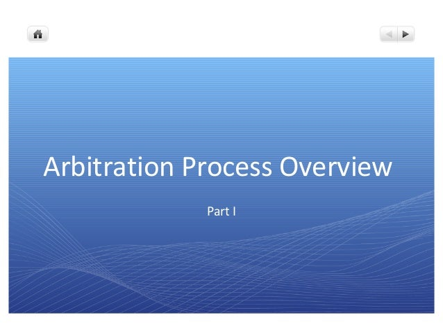 Arbitration Process Overview Part I