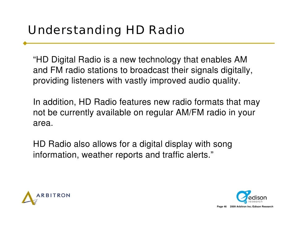 """Understanding HD Radio  """"HD Digital Radio is a new technology that enables AM and FM radio stations to broadcast their sig..."""