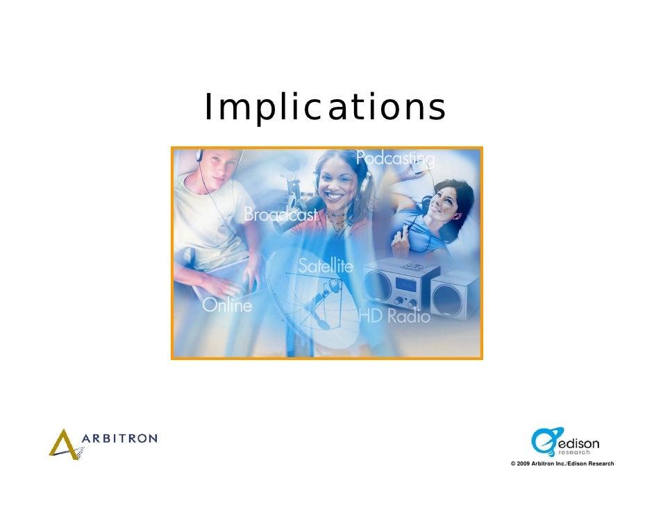 Implications                    © 2009 Arbitron Inc./Edison Research