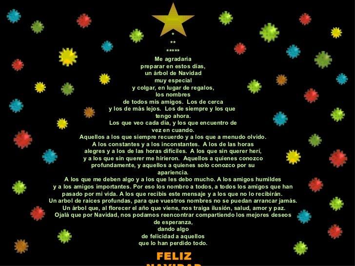 * ** ***** Me agradaria preparar en estos días, un árbol de Navidad muy especial y colgar, en lugar de regalos, los nombre...