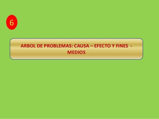 ARBOL DE PROBLEMAS: CAUSA – EFECTO Y FINES -  MEDIOS  6