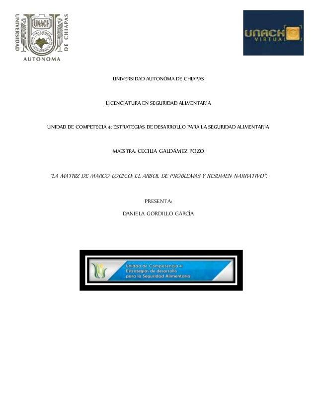 UNIVERSIDAD AUTONÓMA DE CHIAPAS LICENCIATURA EN SEGURIDAD ALIMENTARIA UNIDAD DE COMPETECIA 4: ESTRATEGIAS DE DESARROLLO PA...