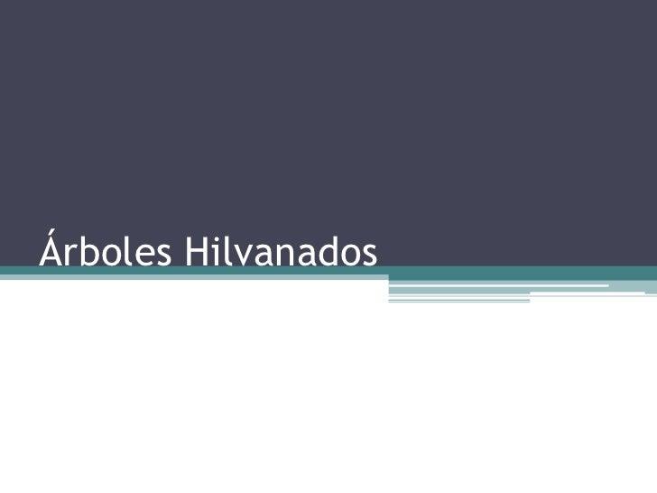 Árboles Hilvanados<br />