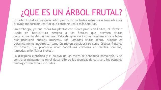 Arbol frutal for Que es un vivero frutal