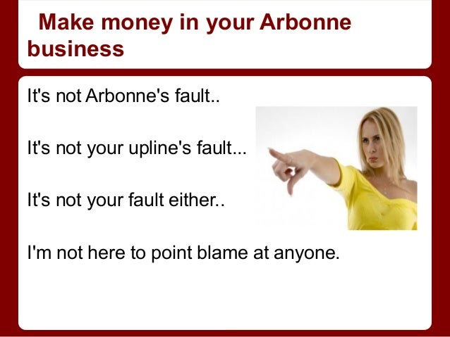 how to make money with arbonne
