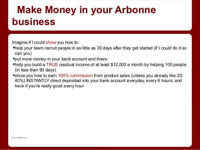 Making money with arbonne