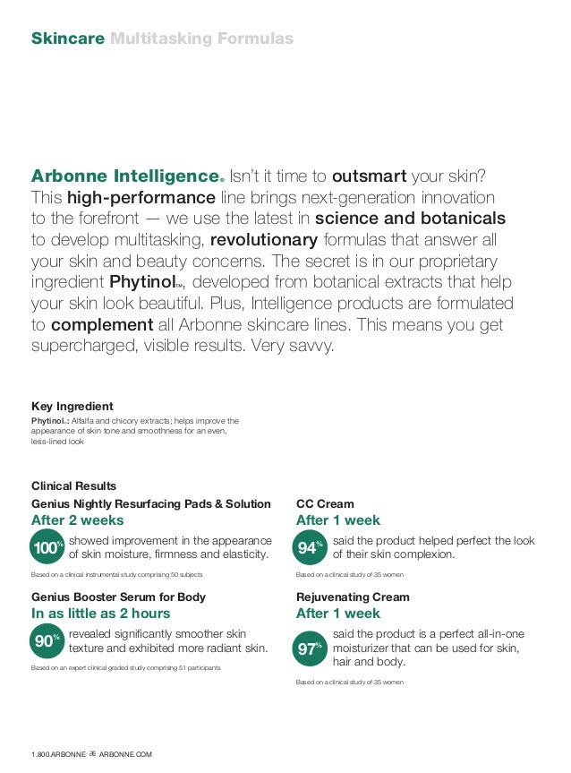 Skincare Multitasking Formulas Arbonne Intelligence® Isn't it time to outsmart your skin? This high-performance line bring...
