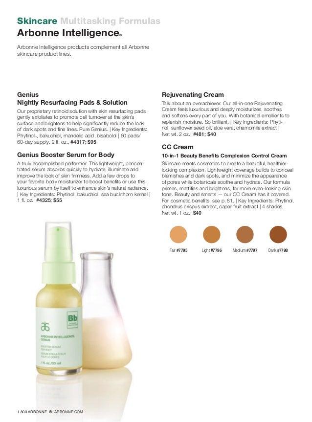 Skincare Multitasking Formulas Arbonne Intelligence® Arbonne Intelligence products complement all Arbonne skincare product...