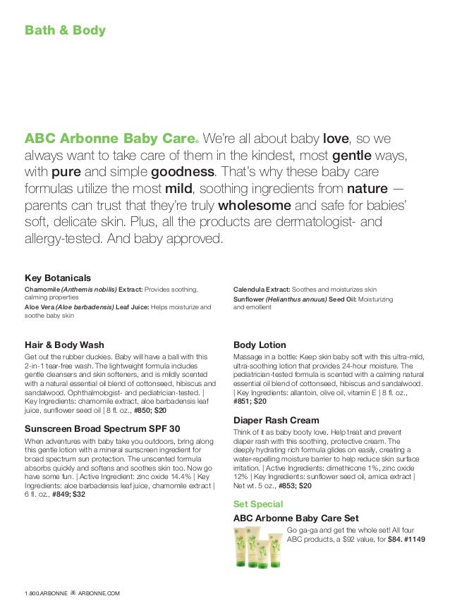 Bath  Body ABC Arbonne Baby Care® We're all about baby love, so we always want to take care of them in the kindest, most g...