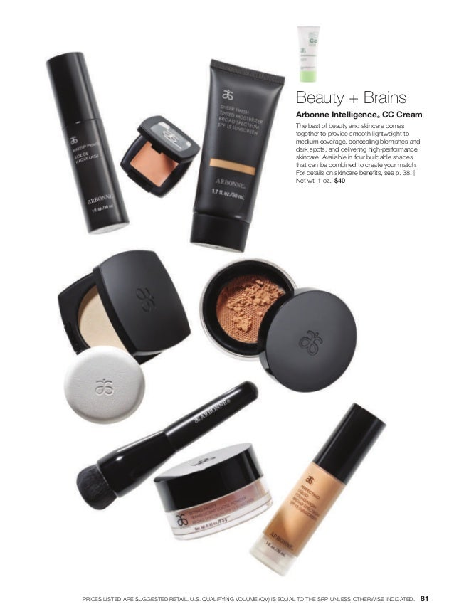 Beauty + Brains Arbonne Intelligence® CC Cream The best of beauty and skincare comes together to provide smooth lightweigh...