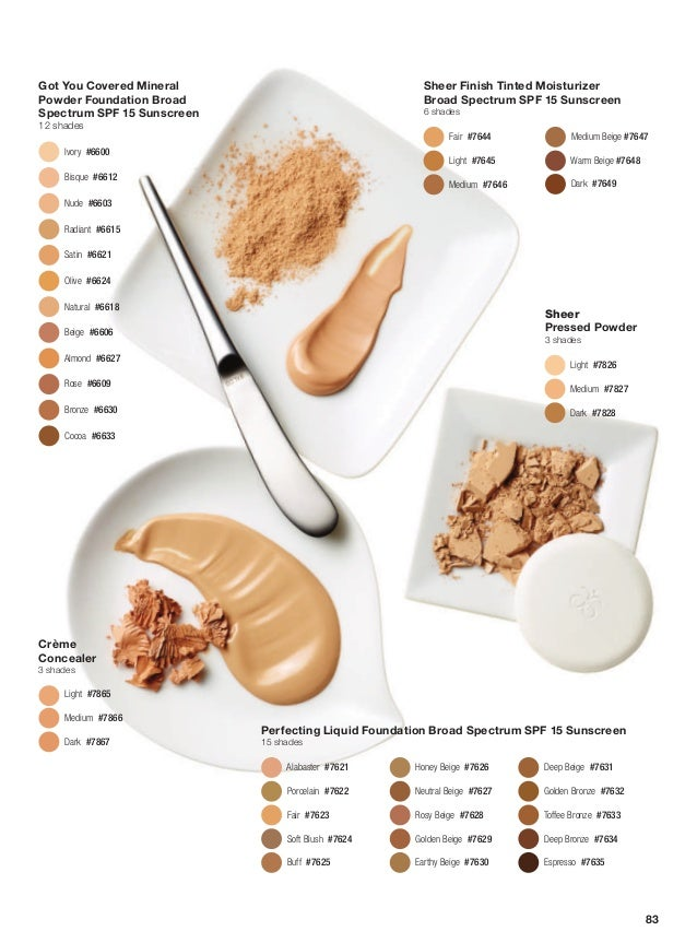Got You Covered Mineral Powder Foundation Broad Spectrum SPF 15 Sunscreen 12 shades Ivory#6600 Bisque#6612 Nude#6603...