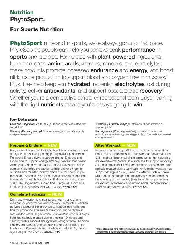 Nutrition PhytoSport™ For Sports Nutrition Prepare  Endure — NEW! Be your best from start to finish. Maintaining endurance...