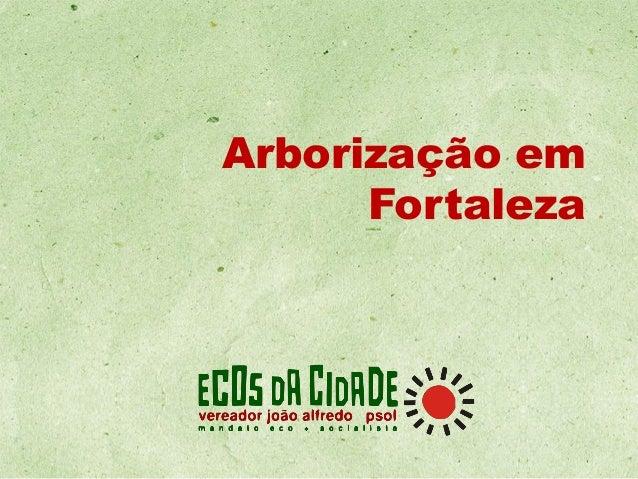 Arborização em Fortaleza