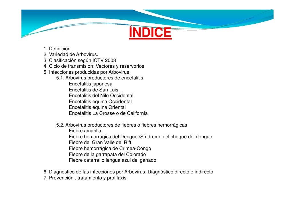 ÍNDICE1. Definición2. Variedad de Arbovirus.3. Clasificación según ICTV 20084. Ciclo de transmisión: Vectores y reservorio...