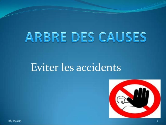 Eviter les accidents08/03/2013                          1