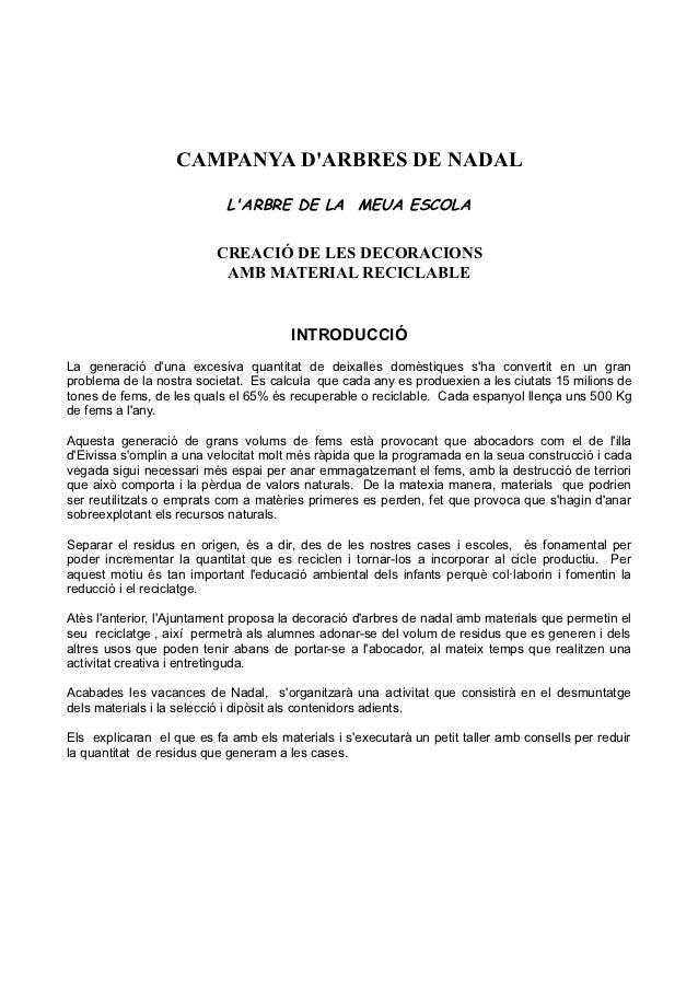 CAMPANYA DARBRES DE NADAL                            LARBRE DE LA MEUA ESCOLA                          CREACIÓ DE LES DECO...