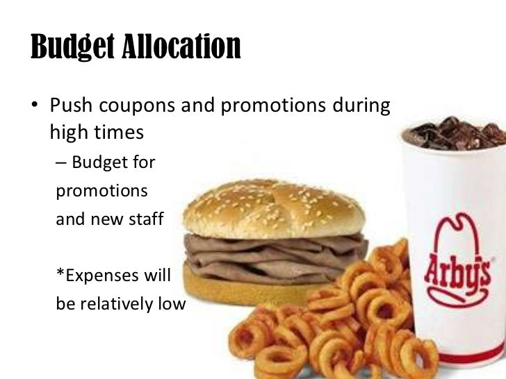Budget Allocation<br />Push coupons and promotions during high times<br />Budget for <br />promotions<br />and new staff<b...