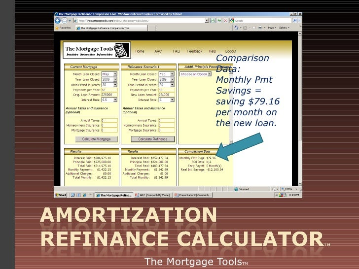Amortization Refinance Calculator