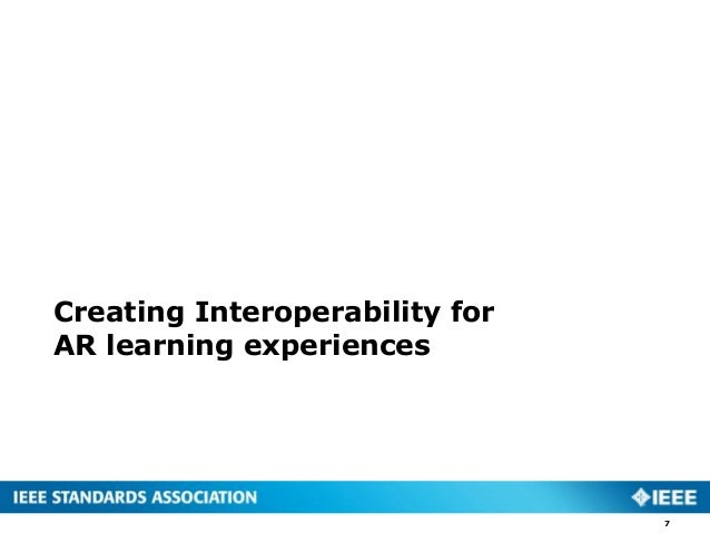 Creating Interoperability for AR learning experiences 7