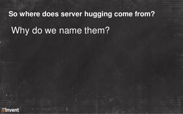 So where does server hugging come from?  Why do we name them?