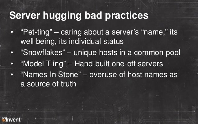 Letting go and loving the new way • • • • • •  Using Auto Scaling for everything ENIs and EIPs Tags are the new DNS Deploy...