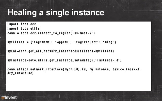 DNS bad. Tags good. DNS Web03.example.com: – 10.167.10.51  Tags i-933f81a4: – – – – –  Name:Web Env:Prod Project:Blog Owne...