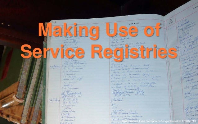 """Service registry workflow 1. A new instance boots. 2. It registers itself with our """"service registry."""" 3. Changes to the s..."""