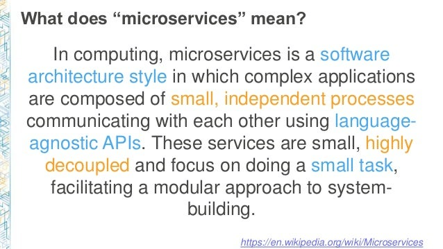 Microservices architecture for mean applications using for What does architecture mean