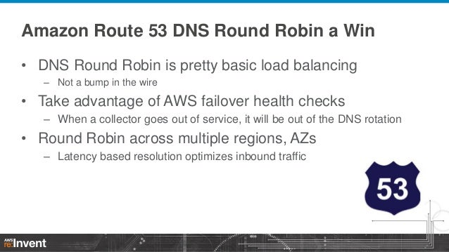 Amazon Route 53 DNS Round Robin a Win • DNS Round Robin is pretty basic load balancing – Not a bump in the wire  • Take ad...