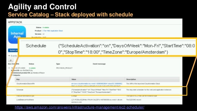 Deploys stacks and attaches automation parameters as tags AWS Service Catalog Service Catalog Administrator Operators (lau...