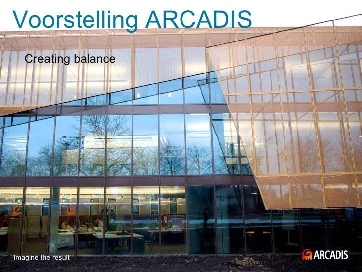 Voorstelling ARCADIS   Creating balanceImagine the result