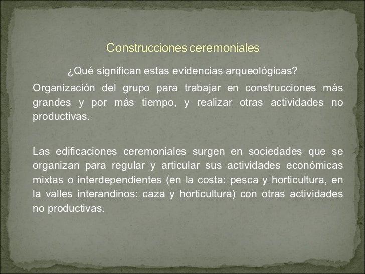 Arcaico andes centrales for Horticultura definicion